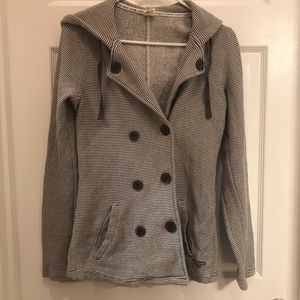 Roxy cotton coat with hood size small/surf/beach